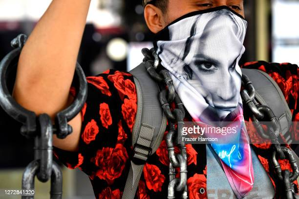 Supporters of Britney Spears attend the #FreeBritney Protest Outside Los Angeles Courthouse at Stanley Mosk Courthouse on September 16 2020 in Los...