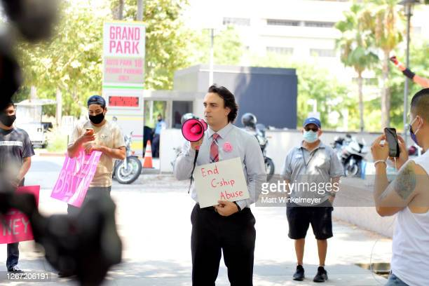Supporters of Britney Spears gather outside a courthouse in downtown for a #FreeBritney protest as a hearing regarding Spears' conservatorship is in...