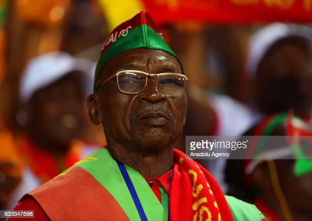 Supporters of Burkina Faso attend the 2017 Africa Cup of Nations semifinal football match between Burkina Faso and Egypt at the Stade de l'Amitie...