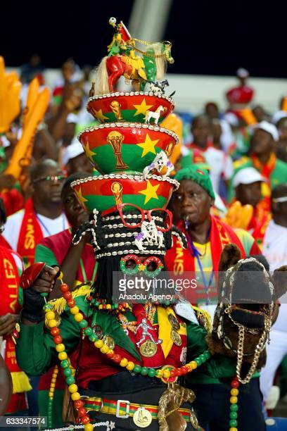 Supporters of Burkina Faso during the 2017 Africa Cup of Nations semifinal football match between Burkina Faso and Egypt at the Stade de l'Amitie...
