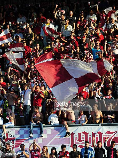 Supporters of CFR 1907 Cluj during the Romanian Liga 1 match between CFR 1907 Cluj and FC Steaua Bucuresti held on May 20 2012 at the Dr Constantin...