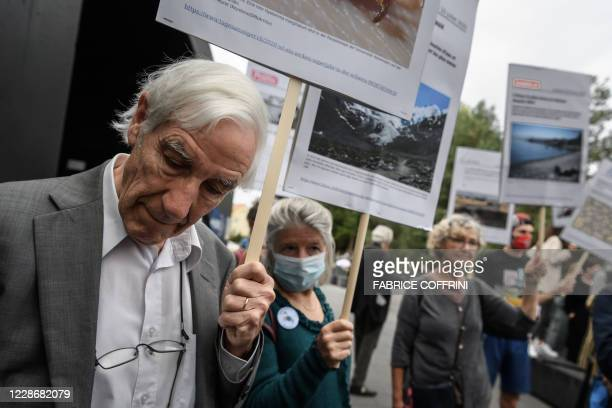 Supporters of climate activists react on September 24 2020 in Renens near Lausanne after twelve Swiss climate activists who broke into Credit...
