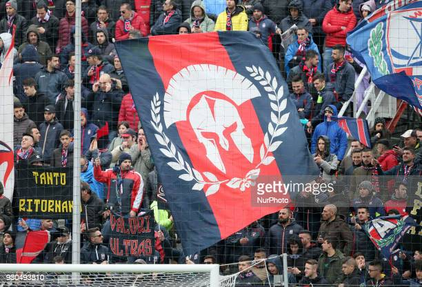 Supporters of Crotone during the Serie A match between FC Crotone and UC Sampdoria at Stadio Comunale Ezio Scida on March 11 2018 in Crotone Italy