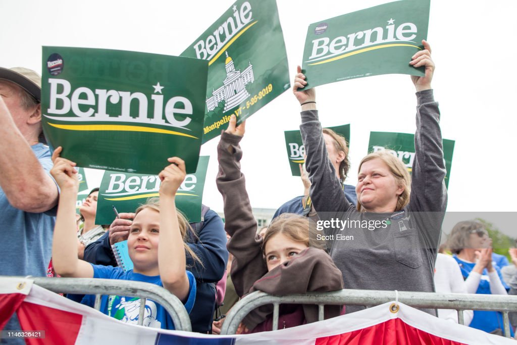VT: Democratic Presidential Candidate Sen. Bernie Sanders Holds Rally In Capital Of His Home State Of Vermont