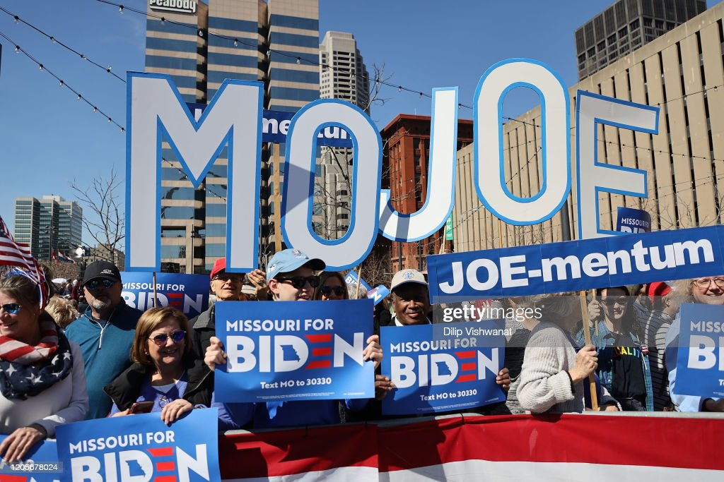 Presidential Candidate Joe Biden Campaigns In St. Louis : News Photo