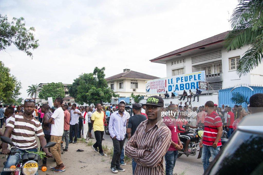 DRCONGO-POLITICS-PARTIES-UNREST : News Photo
