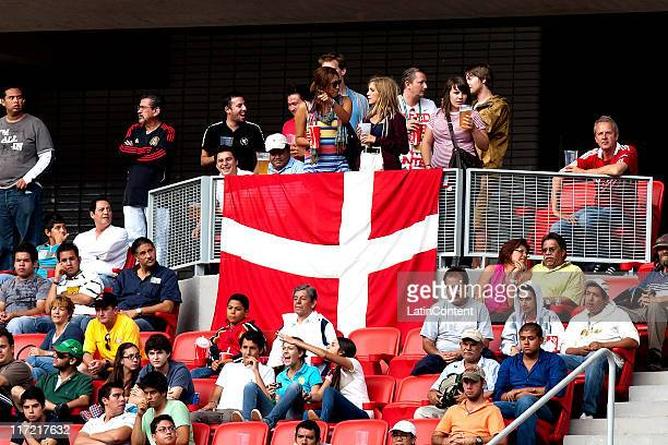 Supporters of Denmark before the match against Ivory Coast as part of the FIFA U17 World Cup Mexico 2011 at the Guadalajara Stadium on June 23 2011...