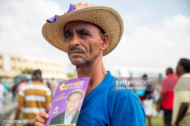 Supporters of Dominican former President and presidential precandidate for the Dominican Liberation party Leonel Fernandez demonstrate in front of...