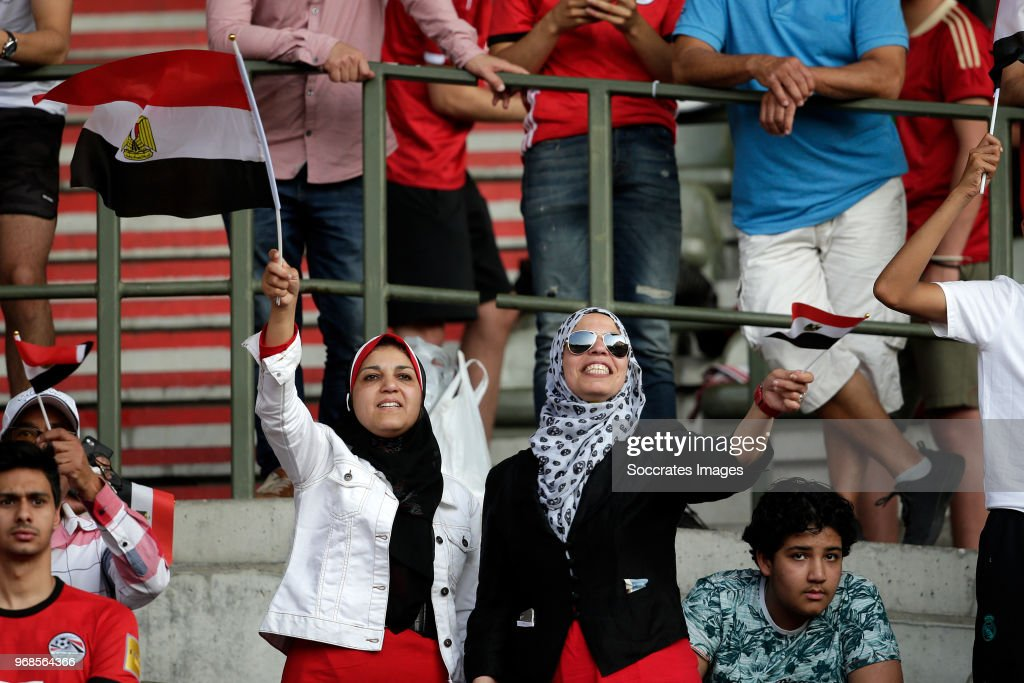 supporters of Egypt during the International Friendly match between Belgium v Egypt at the Koning Boudewijnstadion on June 6, 2018 in Brussel Belgium