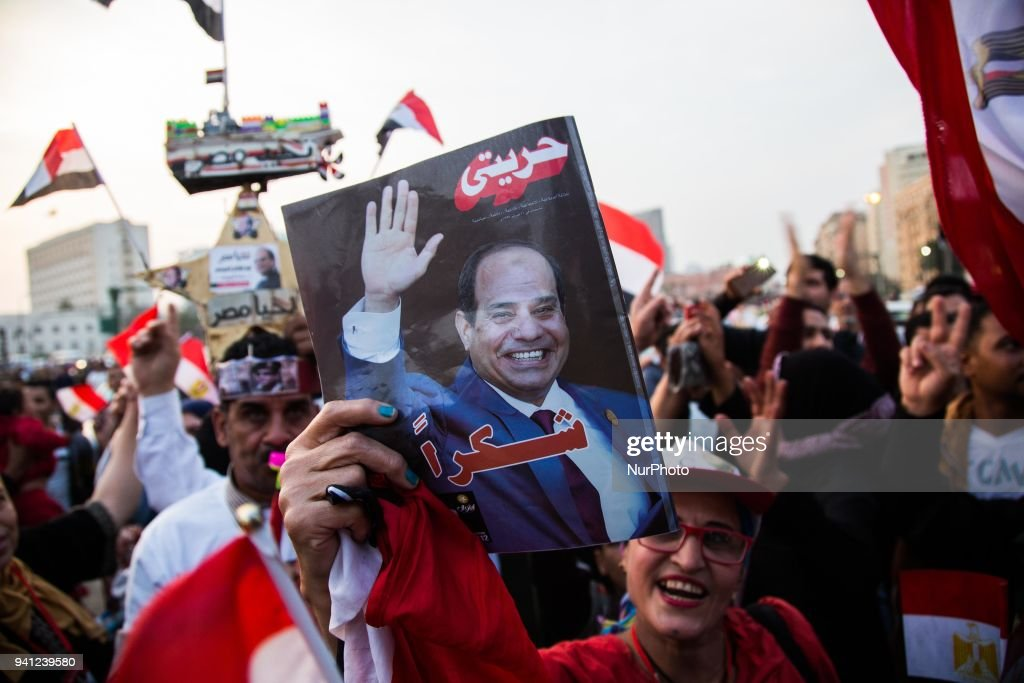 al-Sisi Wins The Presidential Elections In Egypt : ニュース写真