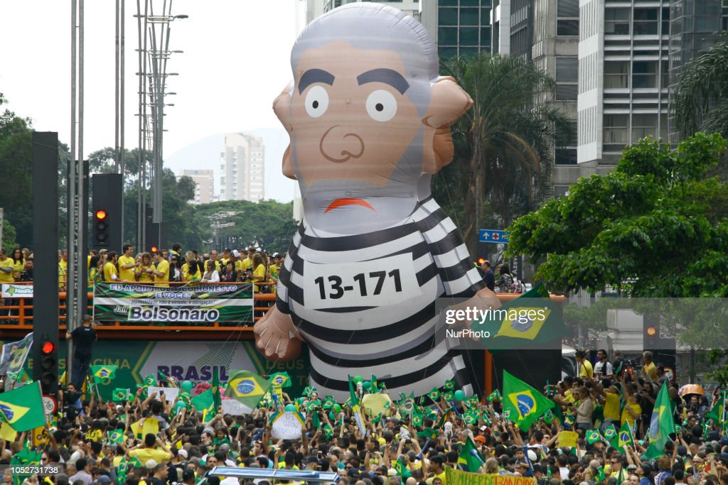 Rally In Favor Of Jair Bolsonaro In Sao Paulo : News Photo