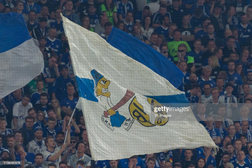 Supporters Of Fc Schalke Are Seen With Flag Of Borussia Dortmund News Photo Getty Images