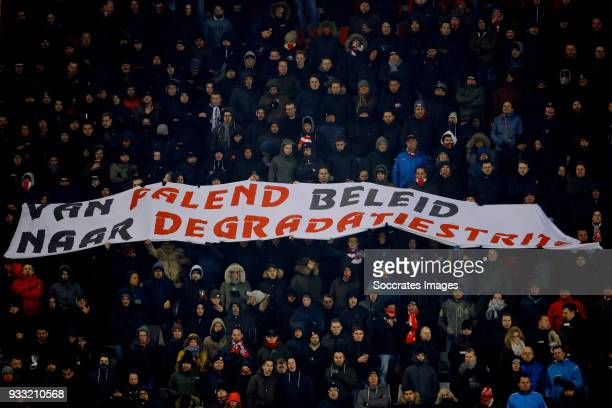 supporters of FC Twente during the Dutch Eredivisie match between Fc Twente v Willem II at the De Grolsch Veste on March 17 2018 in Enschede...