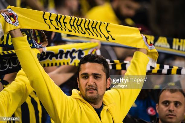Supporters of Fenerbahceduring the Turkish Spor Toto Super Lig football match between Fenerbahce and Medipol Basaksehir FK on May 17, 2017 at the...