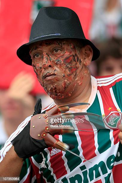 Supporters of Fluminense during the Brazilian Serie A championship final match against Guarani at Engenhao Stadium on December 5 2010 in Rio de...