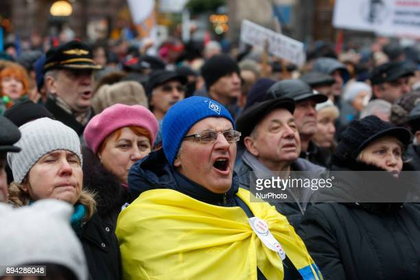 Supporters of former Georgian President and Ukrainian opposition figure Mikheil Saakashvili participate quotMarch for impeachmentquot with demand the...