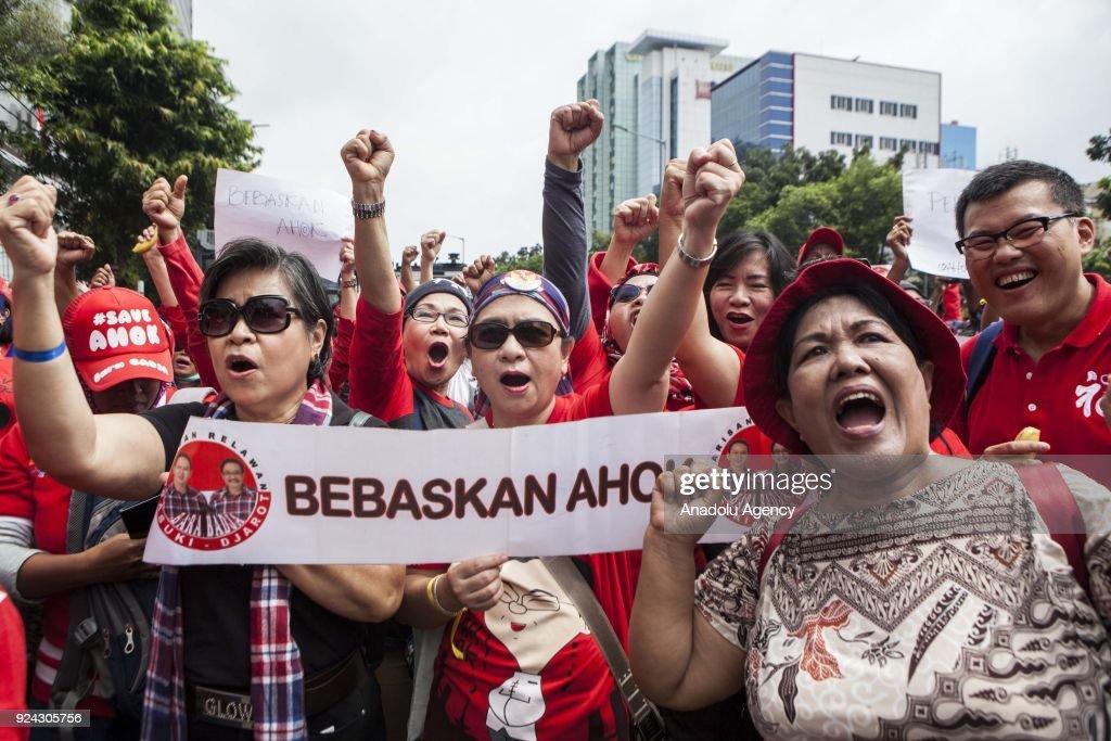 Judicial review of former Jakarta Governor Basuki Ahok Tjahaja Purnama  : News Photo