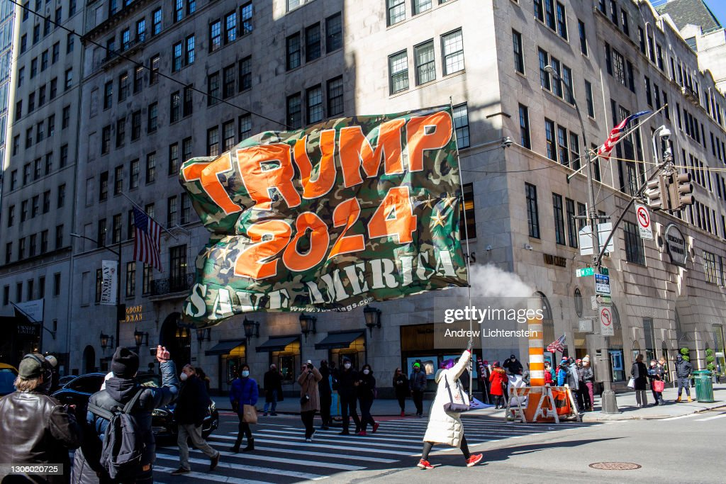 Supporters of former President Trump gather at Trump Tower : News Photo