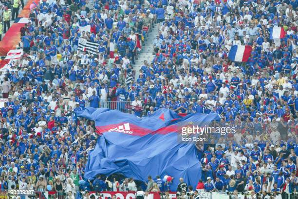 Supporters of France during the European Championship match between Croatia and France at Estadio Dr. Magalhaes Pessoa, Leiria, Portugal on 17 June...