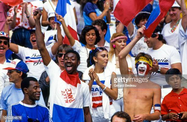 Supporters of France during the World Cup semi final match between West Germany FRG and France played in Guadalajara Mexico on june 25th 1986