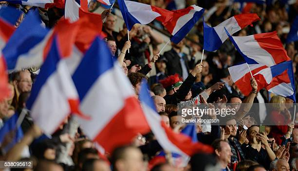 Supporters of France react during the International Friendly between France and Scotland on June 4 2016 in Metz France