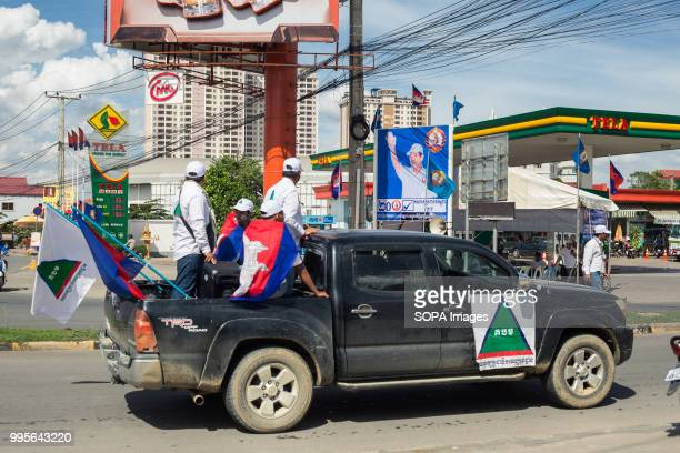 Supporters of GDP seen on a vehicle Grassroots Democratic Party is running for the July 2018 elections with Yang Saing Koma as candidate They held a...