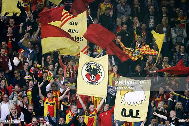 Supporters of Go Ahead Eagles during the Dutch Eredivisie match between Vitesse Arnhem and Go Ahead Eagles at GelreDome on April 27 2014 in Arnhem...