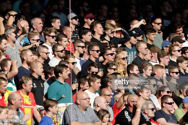 supporters of Go Ahead Eagles during the Dutch Keuken Kampioen Divisie match between Go Ahead Eagles v Roda JC at the De Adelaarshorst on October 14...