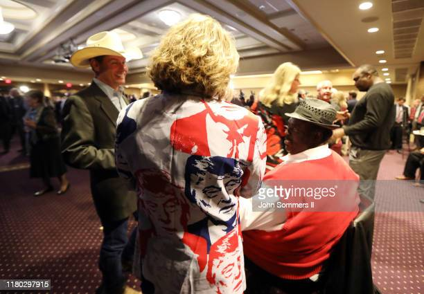 Supporters of Gov Matt Bevin wait for election results at the governor's electionnight watch party at the Galt House Hotel November 5 2019 in...