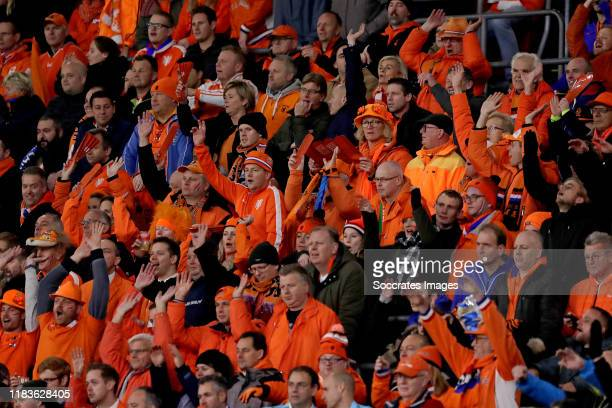 supporters of Holland during the EURO Qualifier match between Holland v Estonia at the Johan Cruijff Arena on November 19 2019 in Amsterdam...