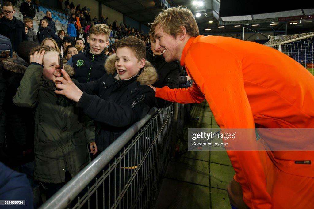 supporters of Holland U21, Michel Vlap of Holland U21 during the match between Holland U21 v Belgium U21 at the De Vijverberg on March 22, 2018 in Doetinchem Netherlands