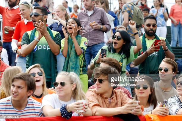 supporters of India during the Champions Trophy match between India v Pakistan at the Hockeyclub Breda on June 23 2018 in Breda Netherlands