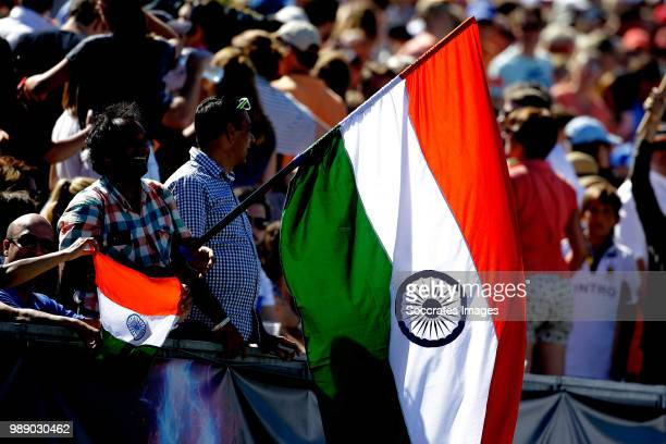 supporters of India during the Champions Trophy match between Australia v India at the Hockeyclub Breda on July 1 2018 in Breda Netherlands