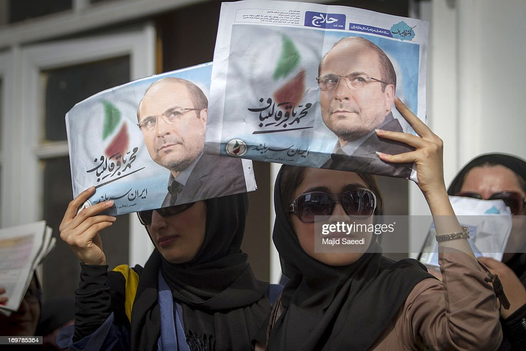 Iranian Presidential Candidate Mohammad-Bagher Ghalibaf Campaigns : News Photo