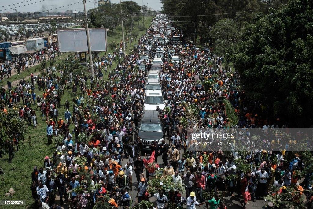 TOPSHOT-KENYA-POLITICS-DEMO-NASA : News Photo