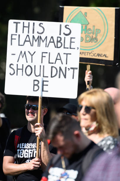 GBR: UK Cladding Action Group Hold Protest At Parliament