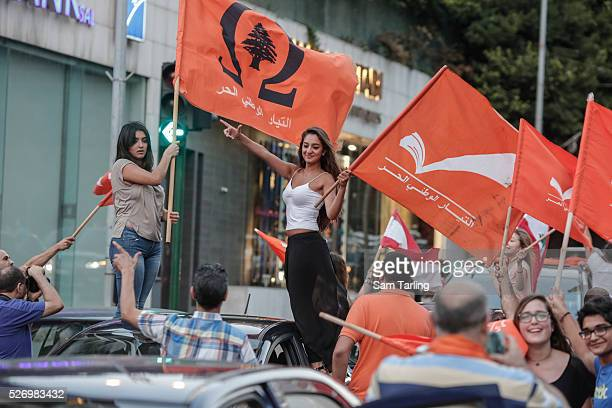 Supporters of Lebanese Presidential hopeful Michel Aoun take to the streets in support of the Hezbollahallied politician who will likely call for...