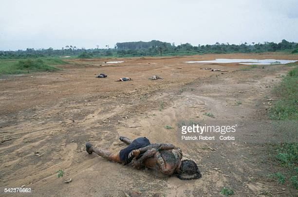 Supporters of Liberian president Samuel Doe executed by the National Patriotic Front of Liberia lie rotting in a clearing in Paynesville Responding...