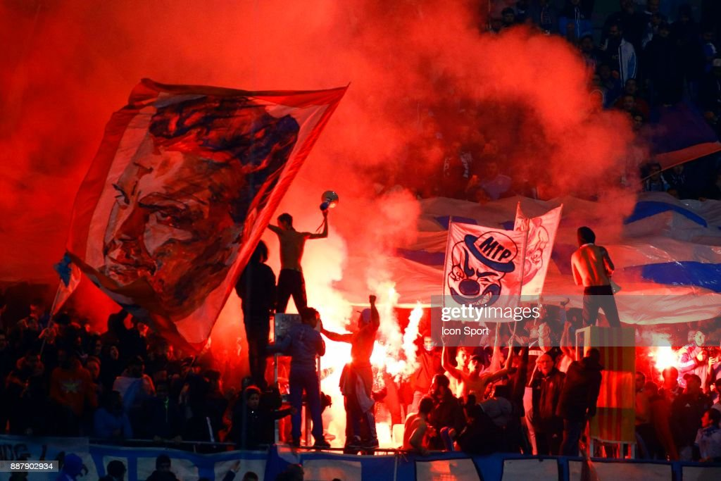 Supporters of Marseille during the Uefa Europa League match between Olympique de Marseille and Red Bull Salzburg at Stade Velodrome on December 7, 2017 in Marseille, France.