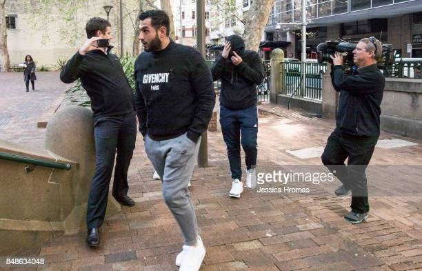 Supporters of Michael and Fadi Ibrahim, Mustapha Dib and Koder Jomaa arrive at Sydney Central Local Court on September 18, 2017 in Sydney, Australia....