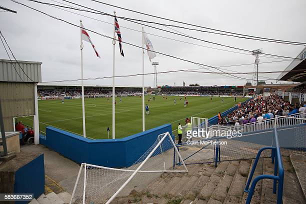 Supporters of Middlesbrough watching the secondhalf action at the Victoria Ground Hartlepool during a preseason friendly between their team and...