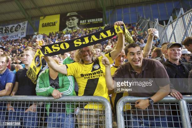 supporters of NAC Breda with Aso sjaal during the Dutch Eredivisie match between NAC Breda and NEC Nijmegen on August 30 2013 at the Rat Verlegh...