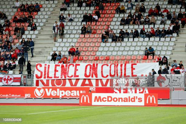 Supporters of Nancy during the French Ligue 2 match between Nancy and Le Havre on September 14 2018 in Nancy France