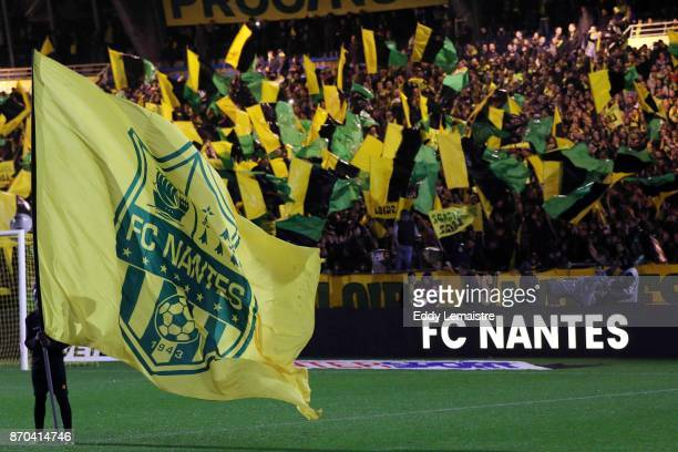 Supporters of Nantes during the Ligue 1 match between Nantes and Toulouse at Stade de la Beaujoire on November 4 2017 in Nantes