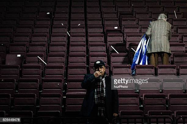 Supporters of Nea Dimokratia party at Antonis Samaras' preelection speech Athens January 23 2015