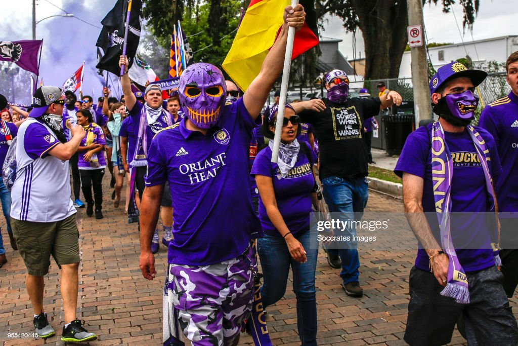 supporters of Orlando City during the match between Orlando City v Real Salt Lake on May 6, 2018
