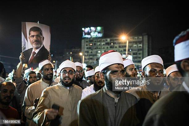 CONTENT] Supporters of ousted president Mohamed Morsi are seen in Rabaa Adaweya camp in Cairo Egypt