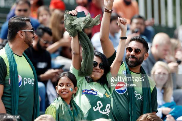 supporters of Pakistan during the Champions Trophy match between India v Pakistan at the Hockeyclub Breda on June 23 2018 in Breda Netherlands