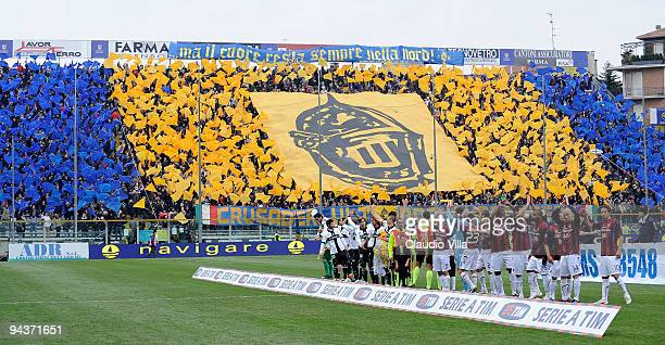 Supporters of Parma FC during the Serie A match between Parma and Bologna at Stadio Ennio Tardini on December 13 2009 in Parma Italy