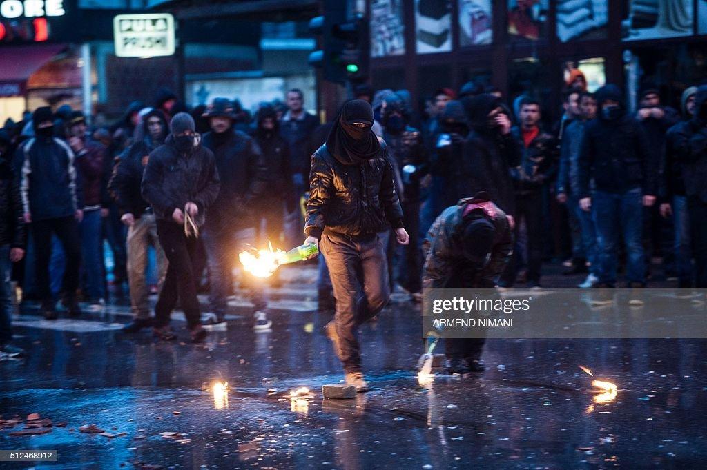 KOSOVO-POLITICS-PROTEST : News Photo